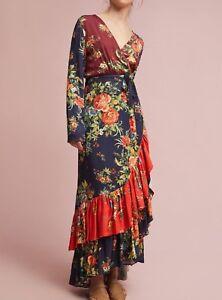 4b31c3e6f8f3 Anthropologie Farm Rio Audrey Wrap Dress $228 Sz XS, XSP - NWT | eBay