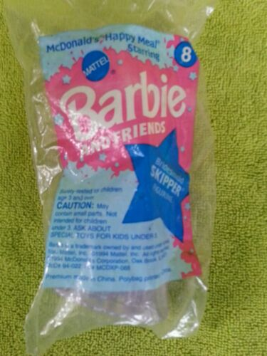1994 McDonalds Happy Meal BARBIE & FRIENDS Bridesmaid Skipper Toy 8 (sealed)