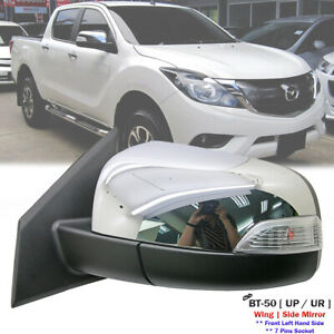 Front Left Chrome Electric Side Mirror w/Light 7P For Mazda BT-50 BT50 2012-2020