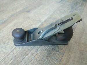 Antique-Bailey-Smooth-Bottom-Wood-Plane-No-4-Hand-Tools-Stanley-Pat-039-d-Aug-19-02