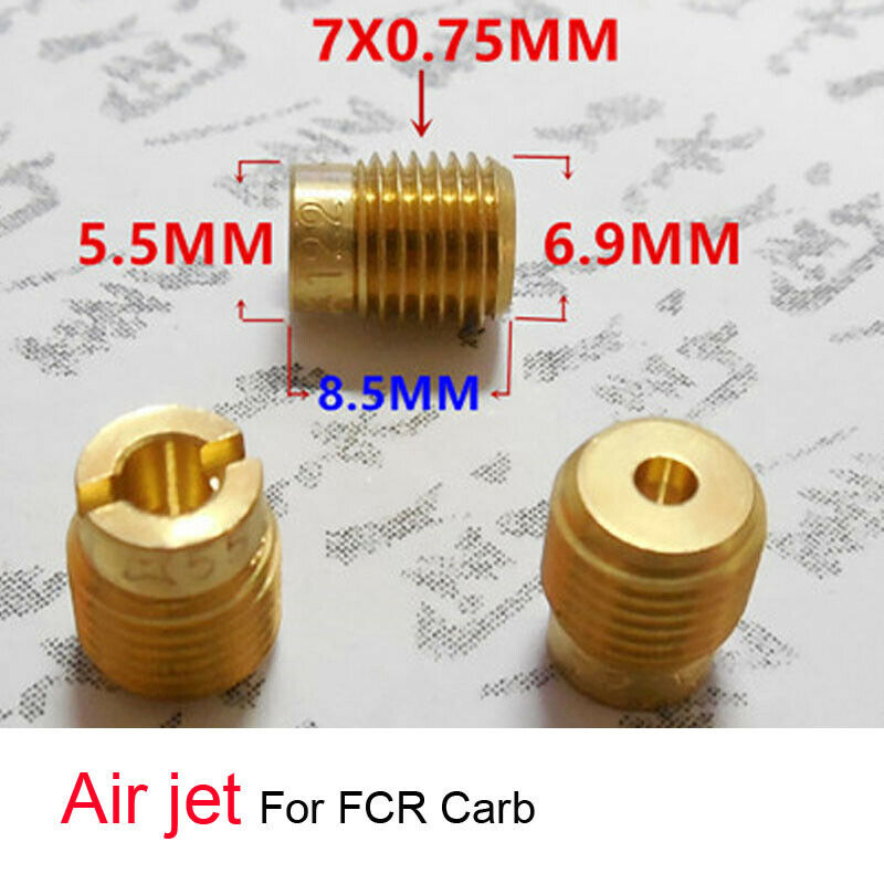 Carburetor 7mm Air jet Main jets 7x0.75mm for FCR Kawasaki WH100T Size 128-200