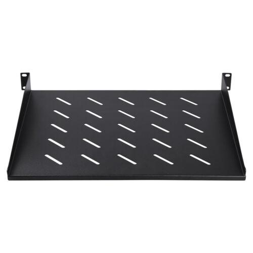 """Cantilever Vented Rack Tray Shelf for 19/"""" 1U Server Racks Mount 14/"""" Deep"""