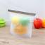 Reusable-Silicone-Kitchen-Fresh-Zip-lock-Bag-Food-Freezer-Storage-Ziplock thumbnail 17