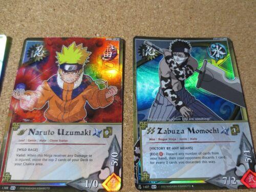 4 Naruto Cards CCG FOIL Haku Naruto Uzumaki Kakashi Hatake Zabuza Momochi P2498