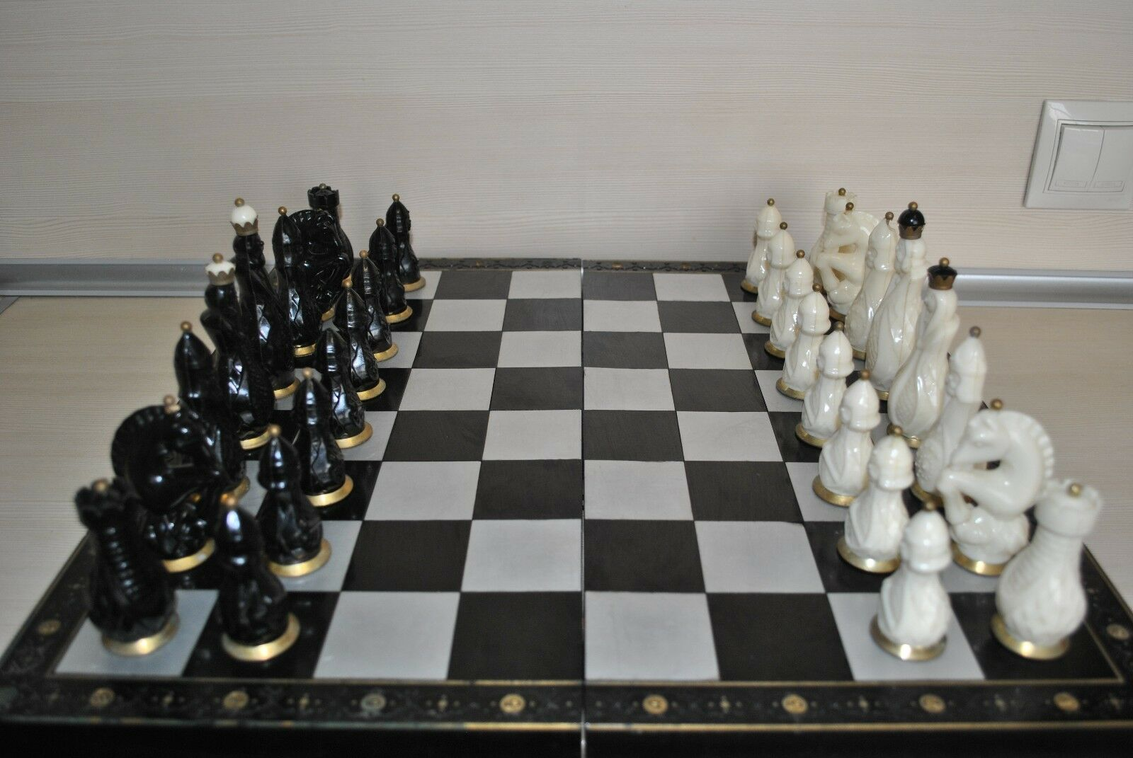 Rare vintage chess (copy of ivory). Produced in the USSR