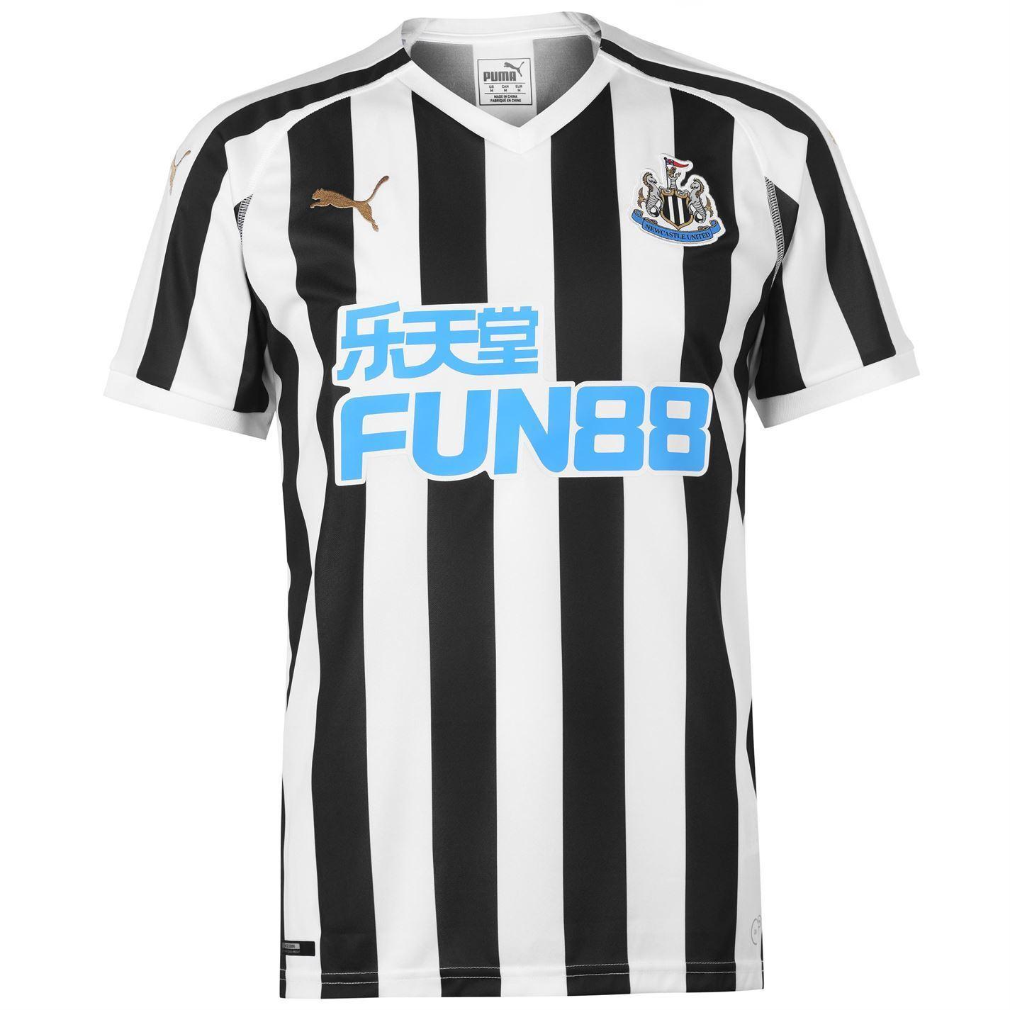 Newcastle United FC Men's Home Replica Manica Corta Tshirt