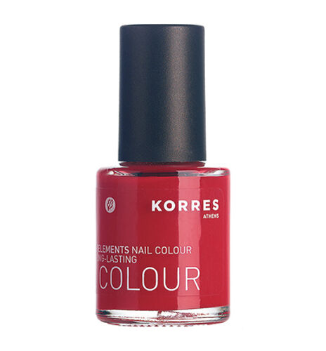 KORRES Nail Colour Polish 48 Coral Red | Acetone & Formaldehyde FREE
