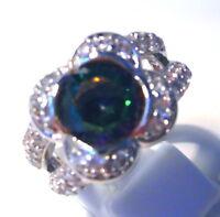 Gorgeous Mystic/white Topaz Ring Uk Size p Us 8