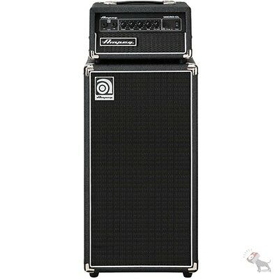 ampeg micro cl stack 100 watt solid state bass guitar amp head 2x10 8 ohm cab 663961035285 ebay. Black Bedroom Furniture Sets. Home Design Ideas