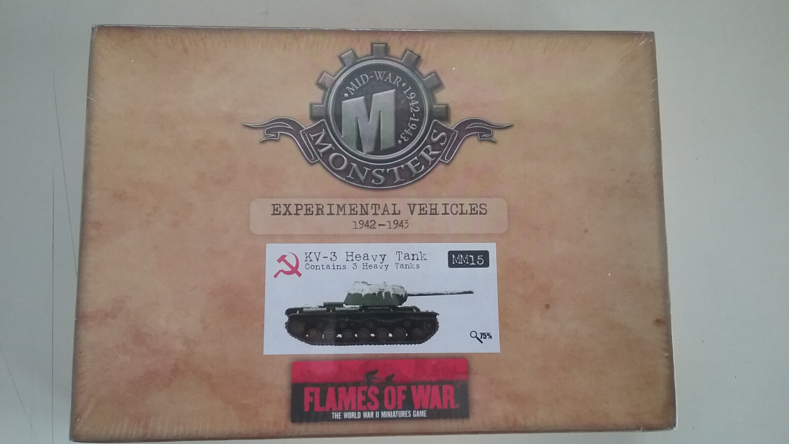 1 100 Scale  Flames of War  WWII Soviet KV-3 Heavy Tank  ( Experimental )