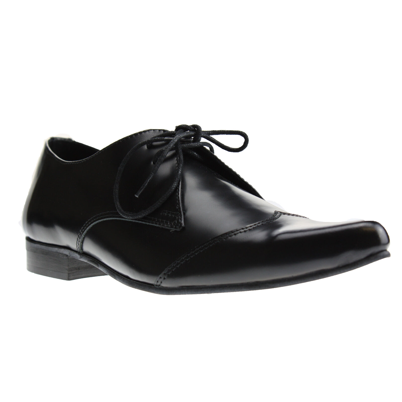 Boots and Pikes Braces Winkelpiker Classic Pelle Nera Scarpe Pikes and Scarpe Basse Nuovo daa2ee