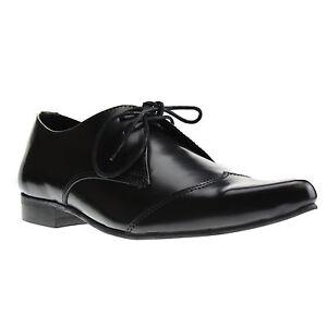 Boots-and-Braces-Winkelpiker-Classic-Schwarz-Leder-Schuhe-Pikes-Halbschuhe-Neu