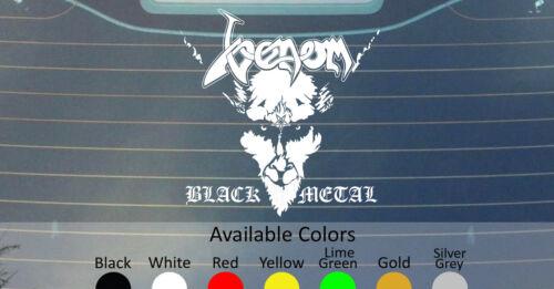 "VENOM BLACK METAL VINYL DECAL STICKER 12/""x11.5/"" CUSTOM SIZE//COLOR HELLHAMMER"