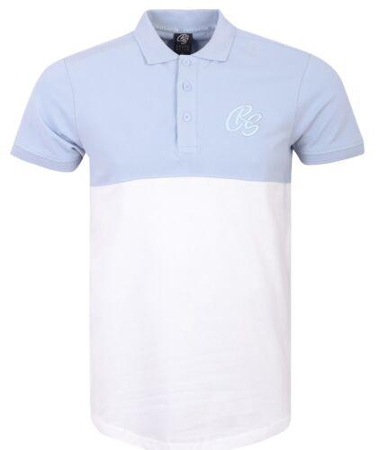 Homme Crosshatch Polo T shirt à encolure ras-du-cou en coton T-Shirts Tee Top Regular Casual