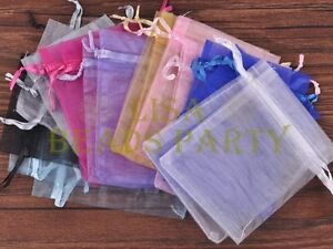 100pcs-16x11cm-Organza-Wedding-Party-Decoration-Gift-Candy-Sheer-Bags-Mixed