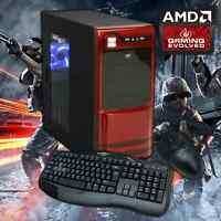 Amd Quad Core Gaming Pc Computer 4.0ghz 16gb 2tb Custom Built Desktop System