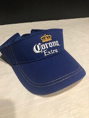 Jimmy Buffett! Embroidered Corona Sun Visor Hat Cap Blue Yellow Adjustable NWOT