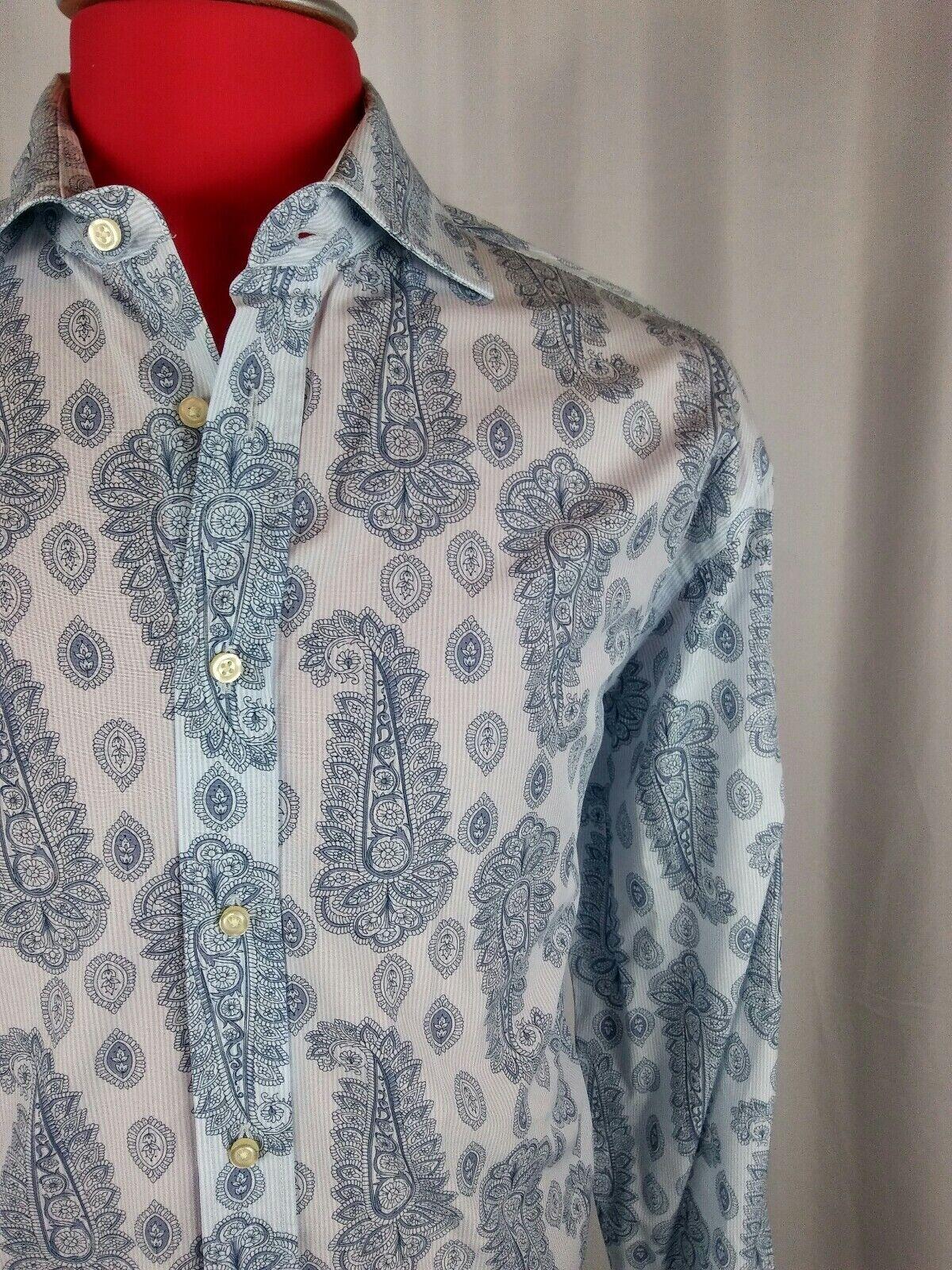 Scott James shirt XL TG 17 1 2 44 cm  de largo mangas Azteca Designs  orden ahora disfrutar de gran descuento
