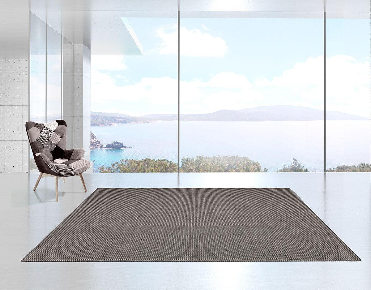 Tappeto Tappeto Tappeto outdoor effetto stuoia pratico da lavare per esterni/interni grigio/nero | Outlet Store  594561