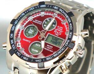 XXL-Uhr-Herrenuhr-Multifunktion-Wasserdicht-Military-Watch-Alarm-Chrono-BOX-r