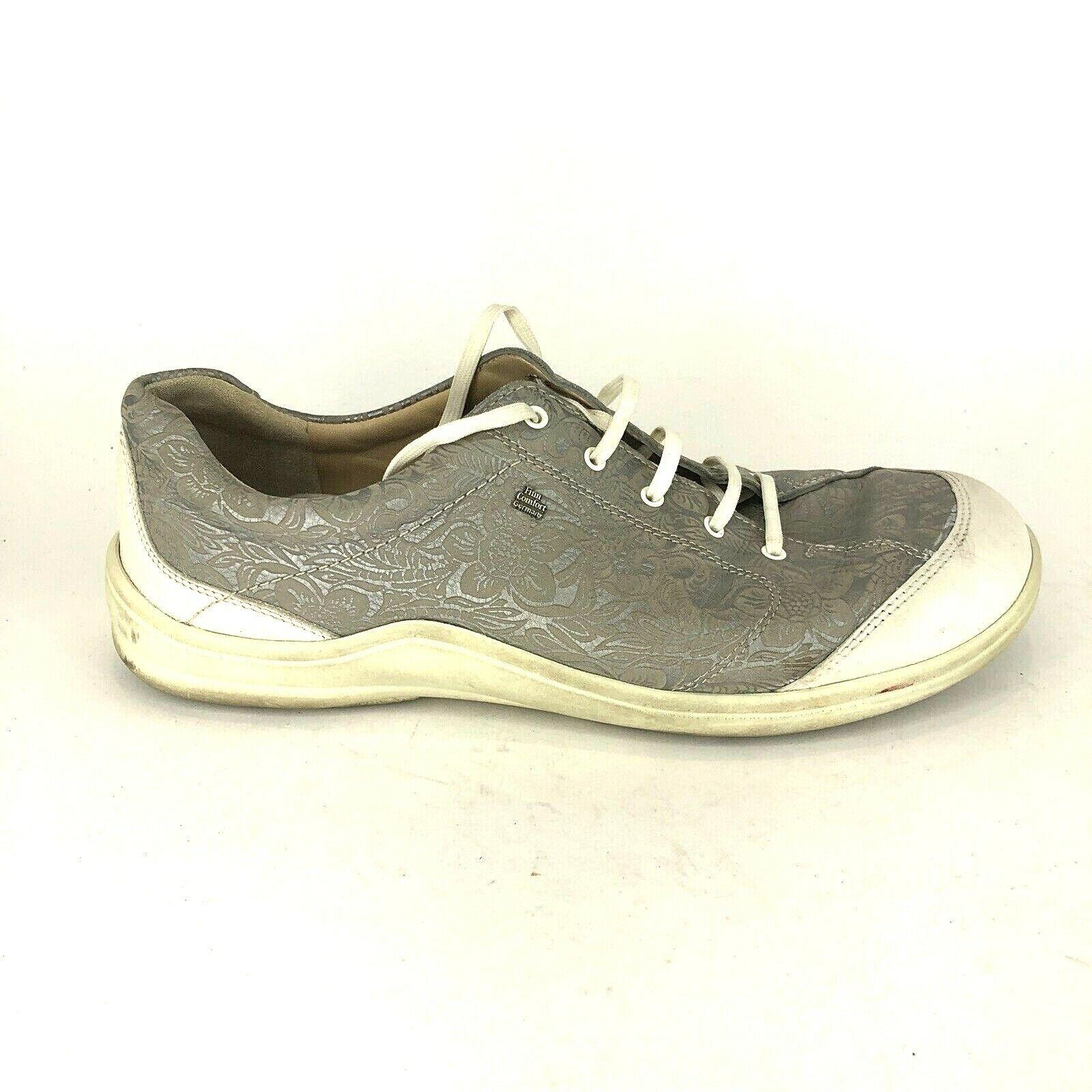 Finn  Comfort donna Dimensione 42 Pelle metallica in argentoo Pelle in pelle Floral Print scarpe da ginnastica  liquidazione fino al 70%