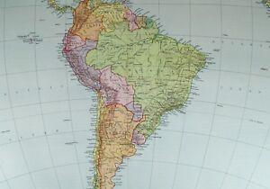 Carte Amerique Latine Uruguay.1921 Grand Carte Amerique Du Sud Brazil Paraguay Uruguay Bolivie