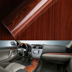 1pc-Glossy-Wood-Grain-Textured-Self-adhesive-Car-Wrap-Vinyl-Sticker-Accessories