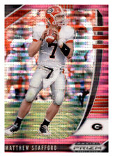 2020 Panini Prizm Draft Prizms Pink Pulsar #72 Matthew Stafford Georgia Bulldogs Football Trading Card