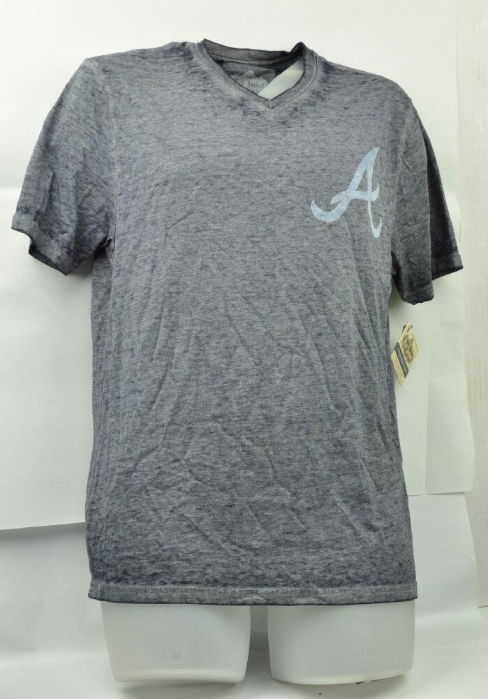 MLB Jacket Red Jacket MLB Atlanta Braves Gray T-Shirt Moyen Vieilli Coton 01a21a