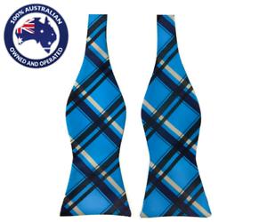 Men/'s Bowtie Blue Bowtie Black Plaids Formal Wedding Groomsmen Self Tied Bow Tie