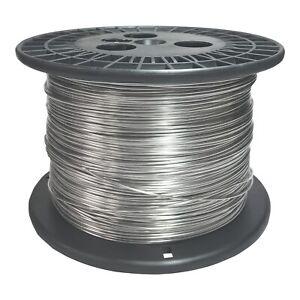 "Stainless Steel 316L Wire 100 Feet 42 AWG Gauge 0.0025/"" Diameter"
