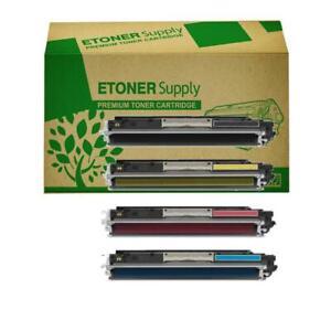 4 x Toner Cartridges Non-OEM Alternative For HP CE310A,CE311A,CE312A,CE313A