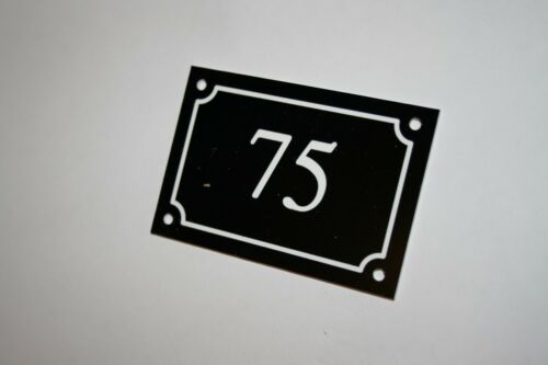 House number sign engraved 200mm x 125mm various colours