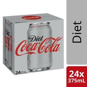 24-Multi Pack Coca-Cola Classic Diet Coke Can Soft Drink Refreshment 375mL