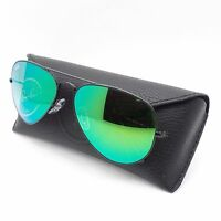 Ray Ban Rb 3025 002/4j 58mm Black Green Fade Mirror Authentic Sunglasses
