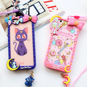 Cartoon-Bow-Frame-Sailor-Moon-Silicone-Soft-Case-Cover-For-iPhone-5-6S-7-8-Plus