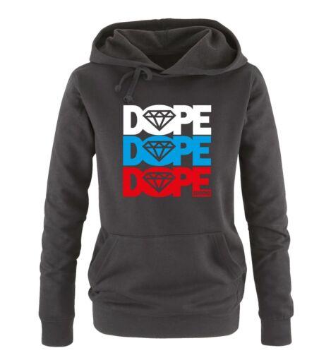 colori Dope la Russia-due colori-da Donna Donne hoodie tg S-XL DIV