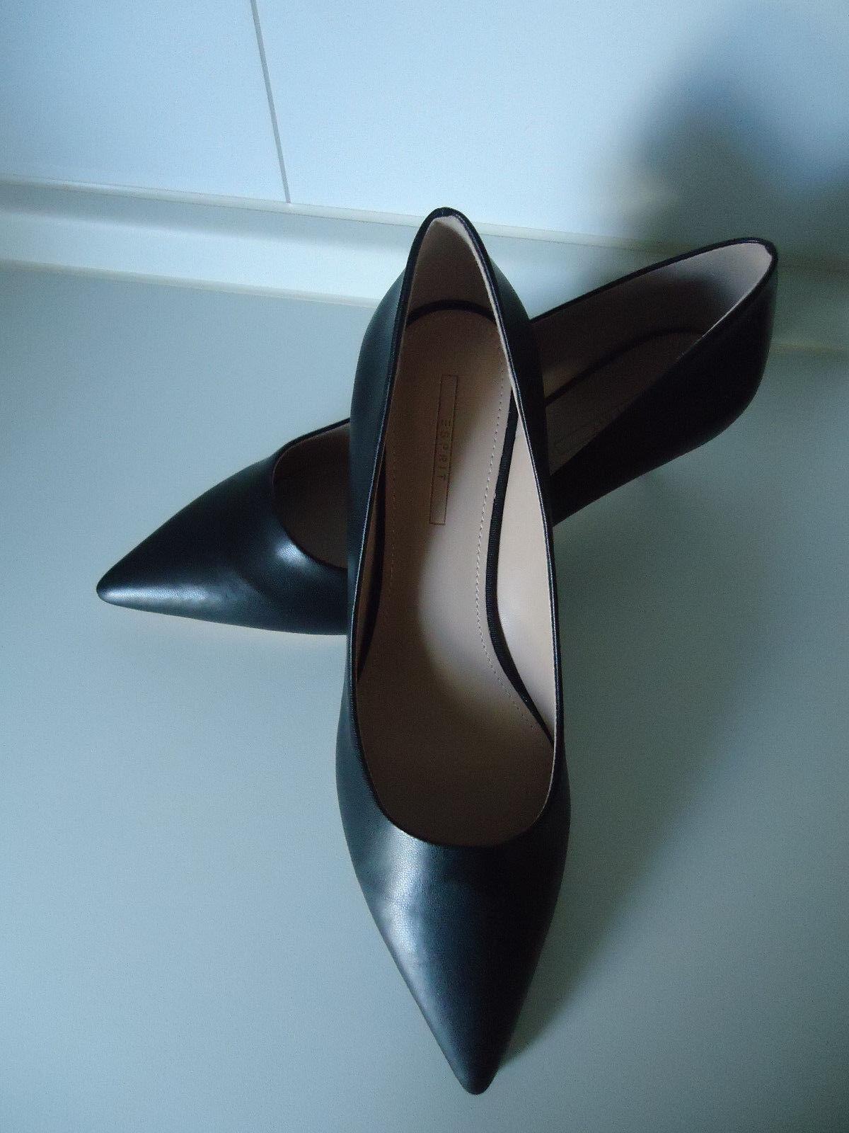 ESPRIT  Spitze Pumps in glatter Leder-Optik Farbe: schwarz Grösse 40