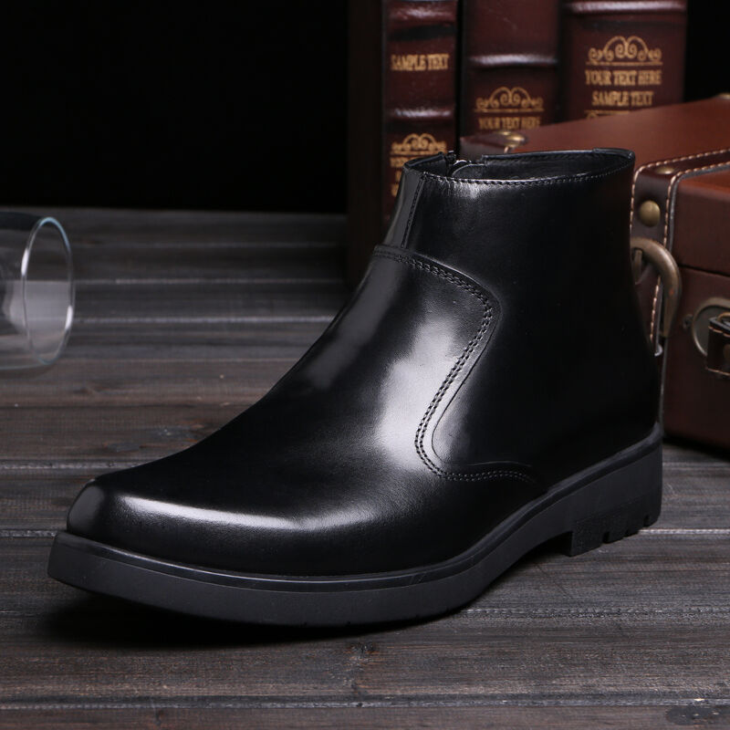 New Men's shoes Genuine Leather Business Cowboy Ankle Boots 3844 Size 5-9 10 11