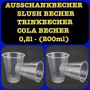 200-6000 Débits De Gobelet Colabecher Slushbecher Transparent Potable Tasse 0,2 L-r Colabecher Slushbecher Transparent Trinkbecher 0,2l Fr-fr Afficher Le Titre D'origine