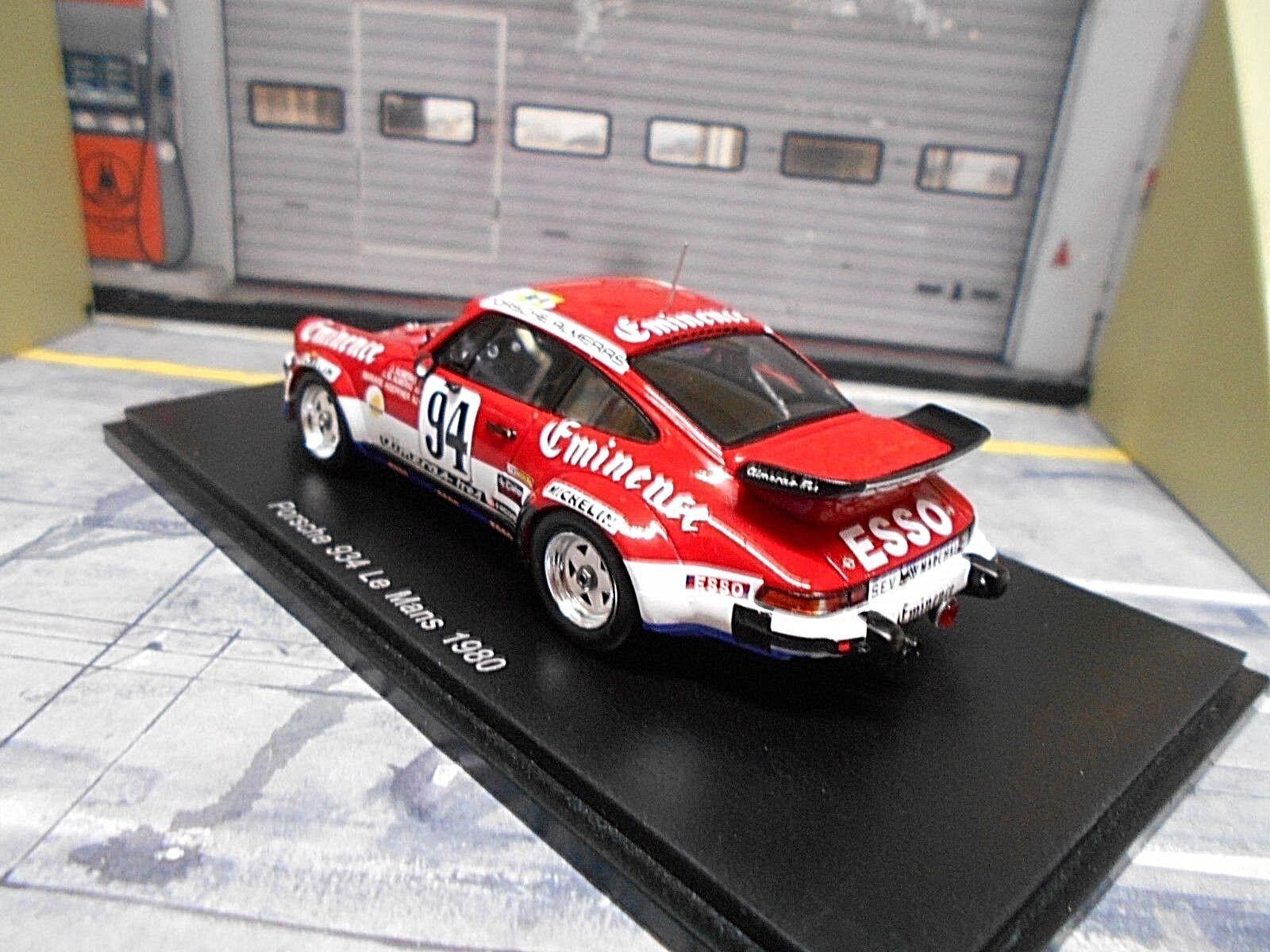 PORSCHE 911 934 Turbo Le Le Le Mans 1980  94 Almeras Hoepfner Eminence Esso Spark 1 43 5479d7