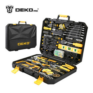 DEKO-168-Pcs-Hand-Tool-Set-General-Household-Kit-with-Wrench-and-Plastic-ToolBox
