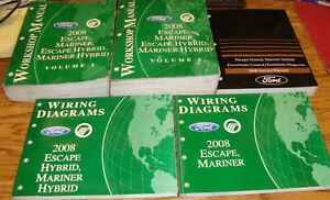 2008 Ford Escape Mariner Hybrid Shop Service Manual Vol 1 ...