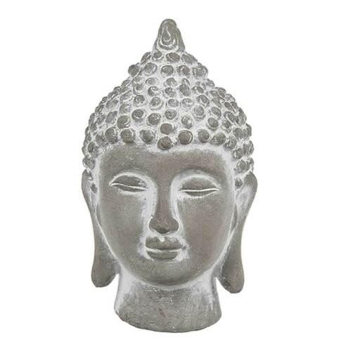 Buddha Kopf aus Zement 9 x 15,5 cm Figur Statue Skulptur Deko Budda Feng Shui