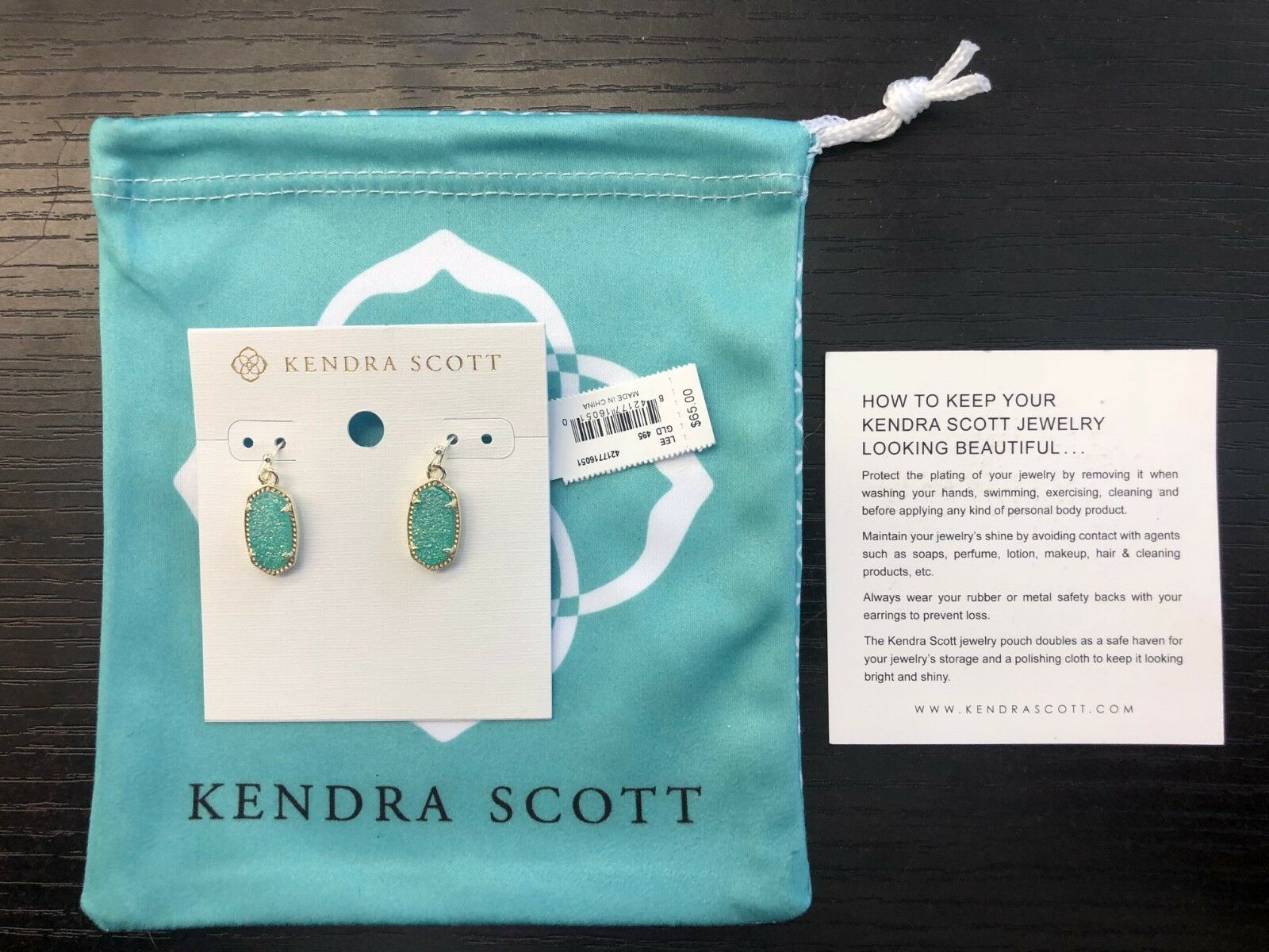BRAND NEW W TAGS AUTHENTIC KENDRA SCOTT LEE EARRINGS GLD 495