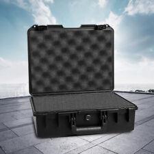 16 Inch Waterproof Hard Plastic Case Tool Storage Box Organizer With Foam Insert