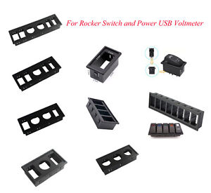 Details about Cigarette Lighter Power USB Voltmeter Socket Holder Rocker  Switch Housing Panel