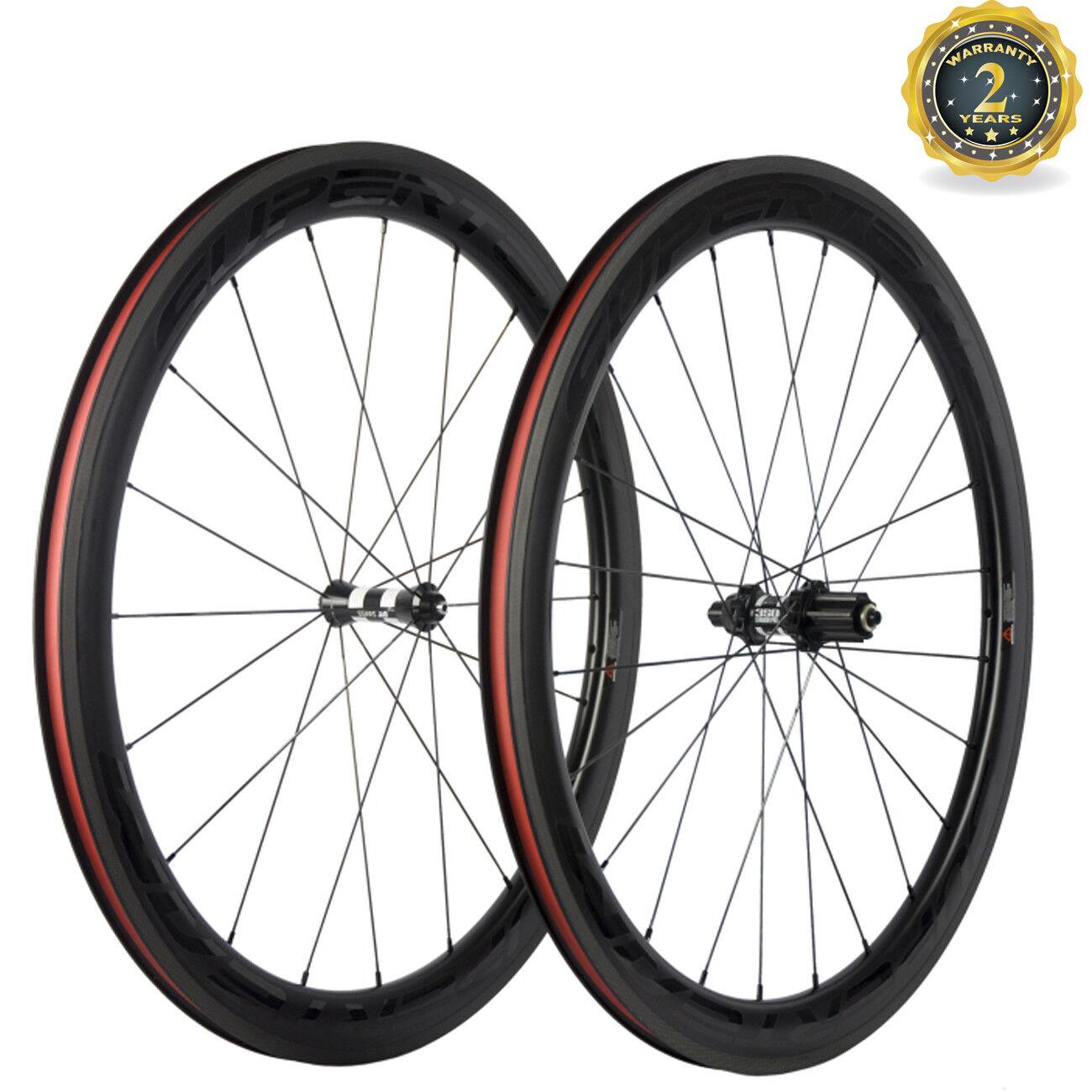 50mm Deep Carbon Wheels DT 350S Hub 25mm Width Superteam Road Wheel Sapim Spoke
