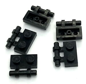Free Ends BRICKS Black 50 NEW LEGO Plate Modified 1 x 2 Hle on Side