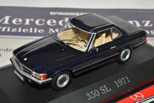 Mercedes-Benz SL-Klasse 350SL Coupe Blau R107 1971-1989 Inkl Zeitschrift Nr 10 1